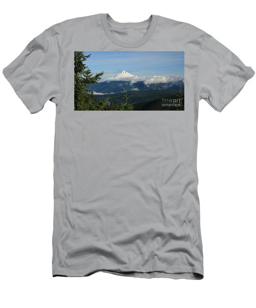 Mountain View Men's T-Shirt (Slim Fit) by Sheila Ping