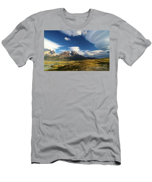Mountains And Clouds In Patagonia Men's T-Shirt (Athletic Fit)