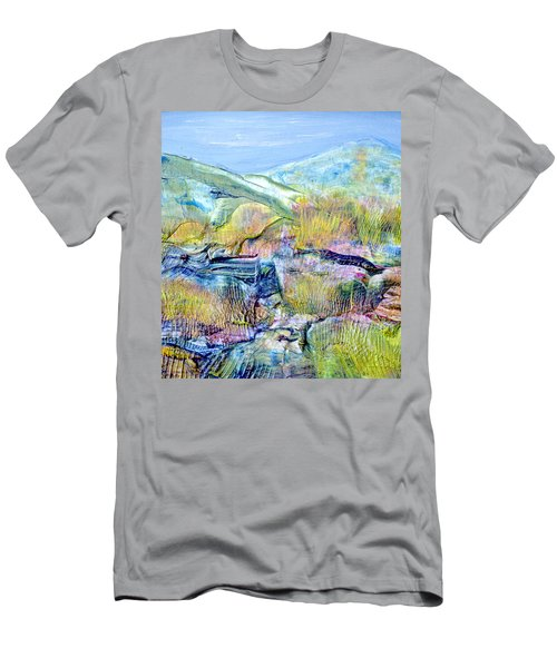 Mountains And Marsh Men's T-Shirt (Slim Fit) by Regina Valluzzi