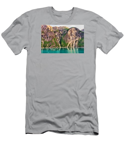 Mountains Of The Fjord Men's T-Shirt (Slim Fit) by Lewis Mann