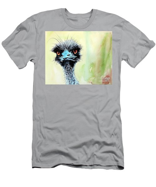 Men's T-Shirt (Slim Fit) featuring the painting Mr. Grumpy by Tom Riggs