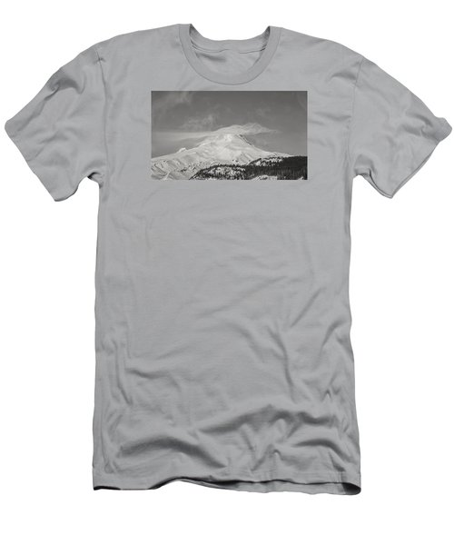 Mt Hood From White River Men's T-Shirt (Athletic Fit)