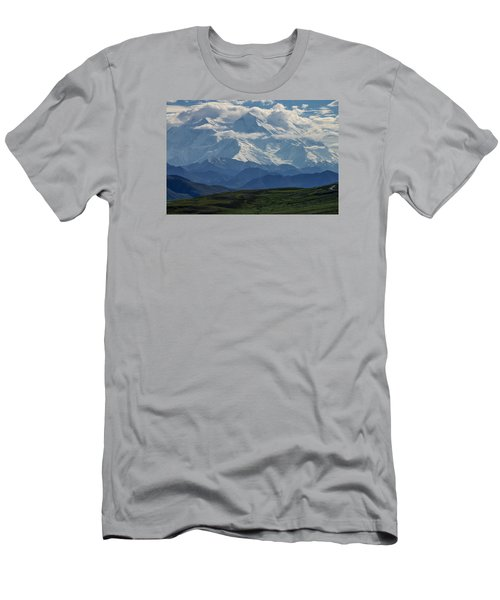 Denali Men's T-Shirt (Slim Fit) by Gary Lengyel