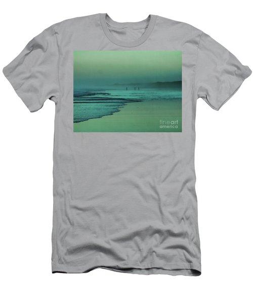 Muawai Sunset Men's T-Shirt (Slim Fit) by Karen Lewis