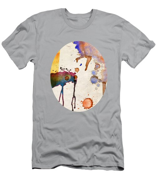 Multicolor Splash Men's T-Shirt (Athletic Fit)