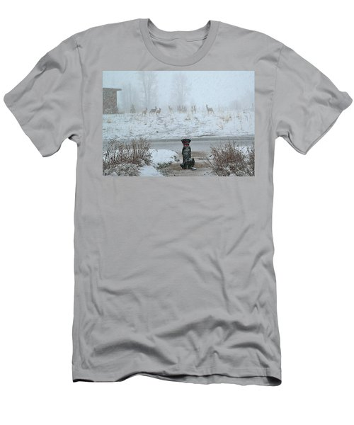 Murphy Watches The Deer Men's T-Shirt (Athletic Fit)