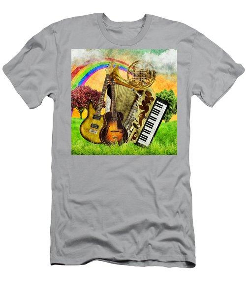 Musical Wonderland Men's T-Shirt (Slim Fit) by Ally White
