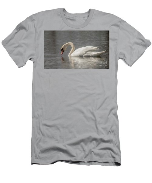 Men's T-Shirt (Slim Fit) featuring the photograph Mute Swan by David Bearden