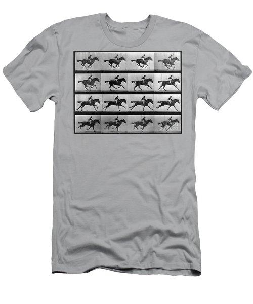 Muybridge Locomotion Racehorse Men's T-Shirt (Athletic Fit)