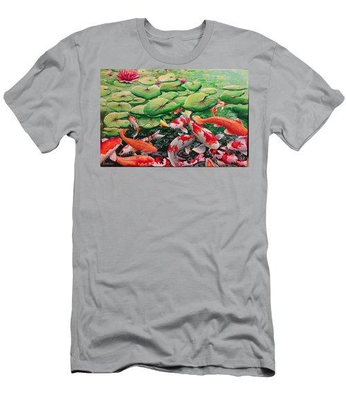 My Backyard Pond Men's T-Shirt (Athletic Fit)