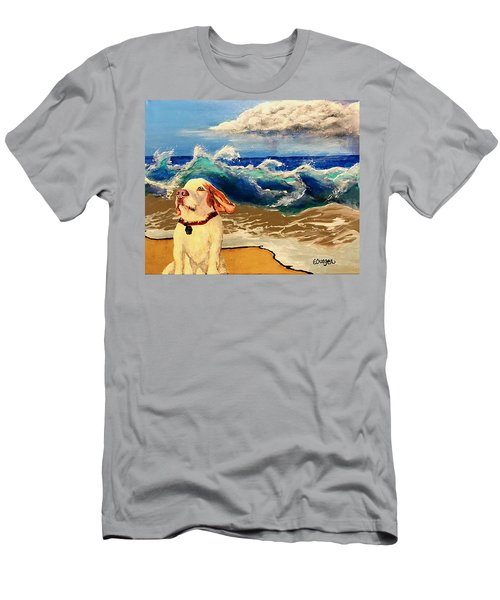 My Dog And The Sea #1 - Beagle Men's T-Shirt (Athletic Fit)