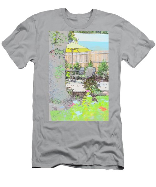 Men's T-Shirt (Athletic Fit) featuring the photograph My Patio by EDi by Darlene
