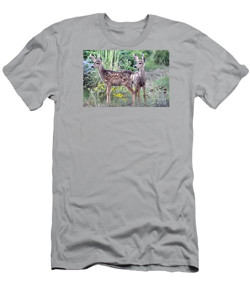 Men's T-Shirt (Slim Fit) featuring the photograph Me And My Shadow  by Juls Adams