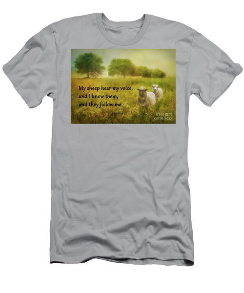 My Sheep Hear My Voice Men's T-Shirt (Athletic Fit)