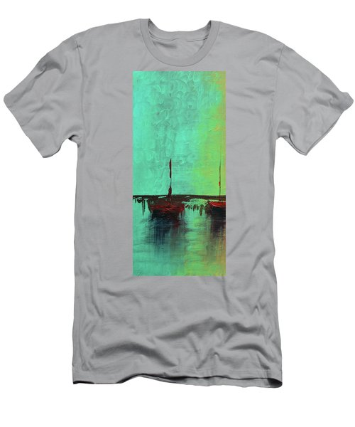 Mystic Bay Triptych 1 Of 3 Men's T-Shirt (Athletic Fit)