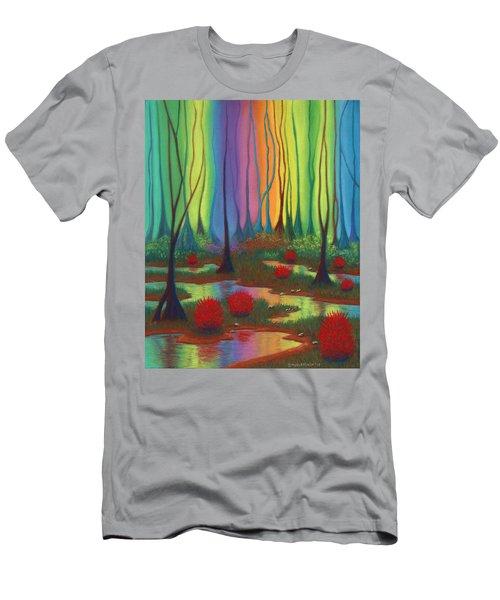 Mystic Marsh 01 Panel B Men's T-Shirt (Athletic Fit)