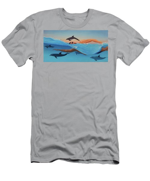 Nadando Contra Corriente Men's T-Shirt (Athletic Fit)