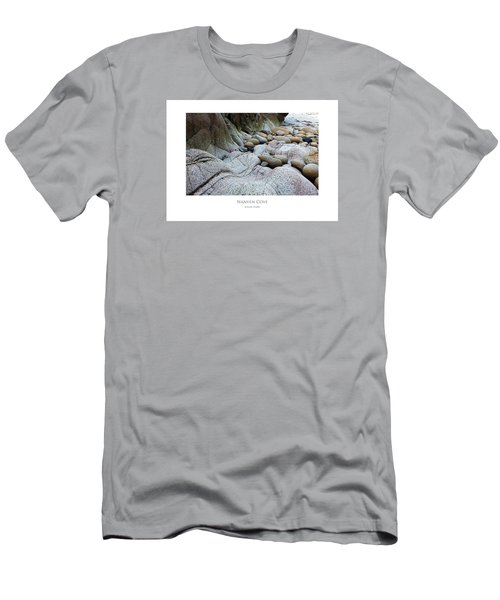 Men's T-Shirt (Athletic Fit) featuring the digital art Nanven Cove by Julian Perry