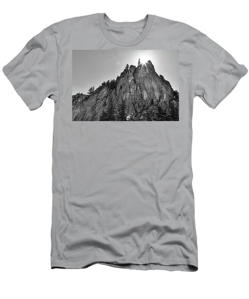 Men's T-Shirt (Slim Fit) featuring the photograph Narrows Pinnacle Boulder Canyon by James BO Insogna