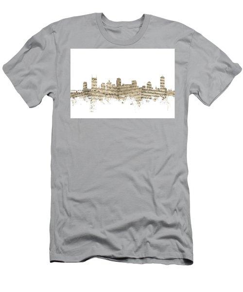 Nashville Tennessee Skyline Sheet Music Men's T-Shirt (Athletic Fit)