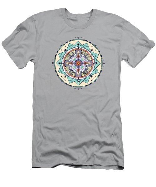 Native Symbols Mandala Men's T-Shirt (Athletic Fit)