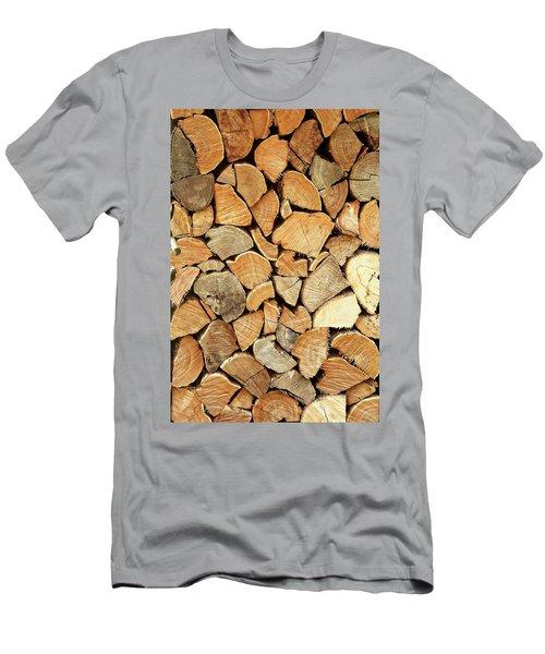 Natural Wood Men's T-Shirt (Slim Fit) by AugenWerk Susann Serfezi
