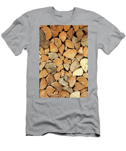 Natural Wood Men's T-Shirt (Athletic Fit)