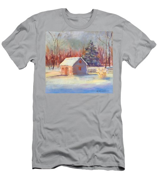 Nauvoo Winter Scene Men's T-Shirt (Athletic Fit)