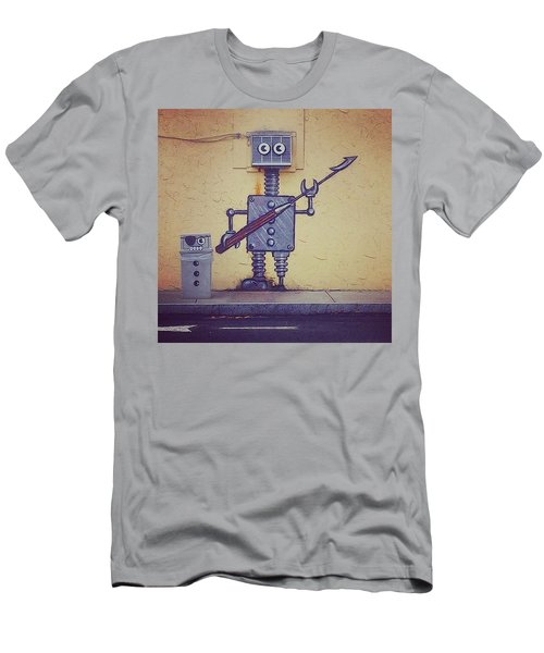 Street Art Robot Men's T-Shirt (Athletic Fit)