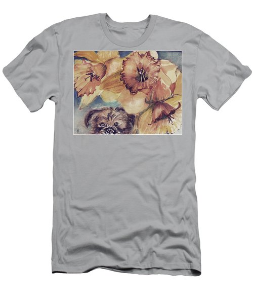 Men's T-Shirt (Slim Fit) featuring the painting Nellie Mae by Mindy Newman