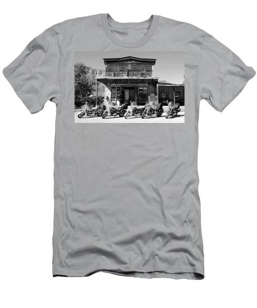 New Horses At Bedrock Men's T-Shirt (Slim Fit) by David Lee Thompson