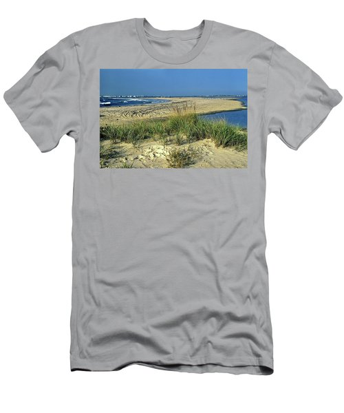 Men's T-Shirt (Slim Fit) featuring the photograph New Jersey Inlet  by Sally Weigand