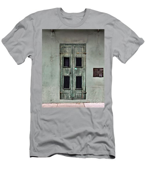 New Orleans Green Doors Men's T-Shirt (Athletic Fit)
