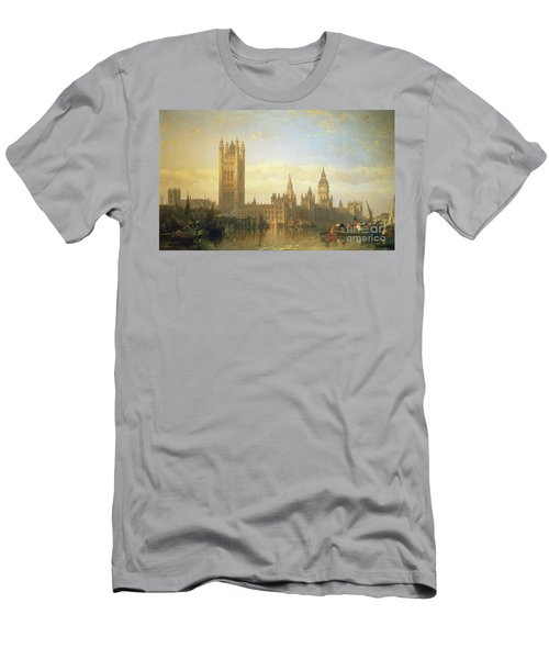 New Palace Of Westminster From The River Thames Men's T-Shirt (Athletic Fit)