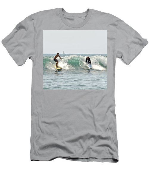 Men's T-Shirt (Slim Fit) featuring the photograph New Zealand Surf by Yurix Sardinelly