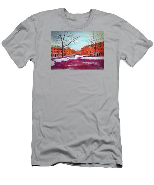 Newburyport Ma In Winter Men's T-Shirt (Athletic Fit)