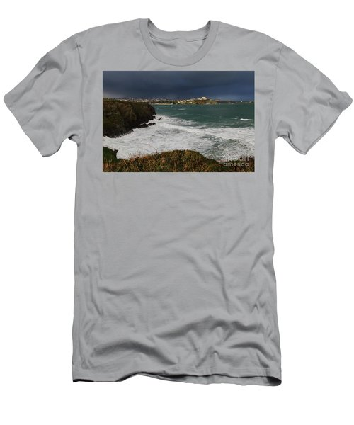 Men's T-Shirt (Slim Fit) featuring the photograph Newquay Squalls On Horizon by Nicholas Burningham