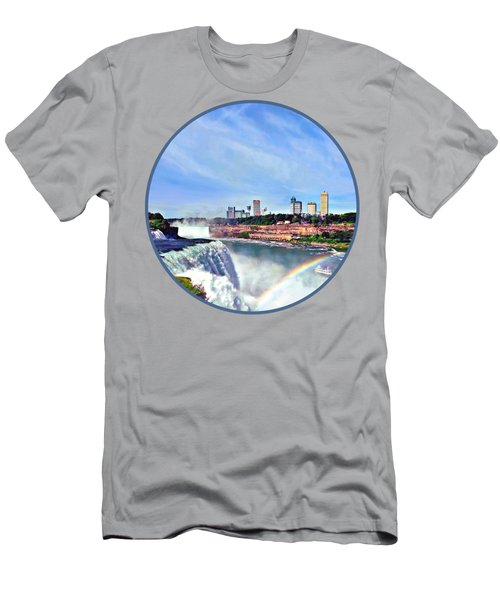 Niagara Falls Ny - Under The Rainbow Men's T-Shirt (Athletic Fit)