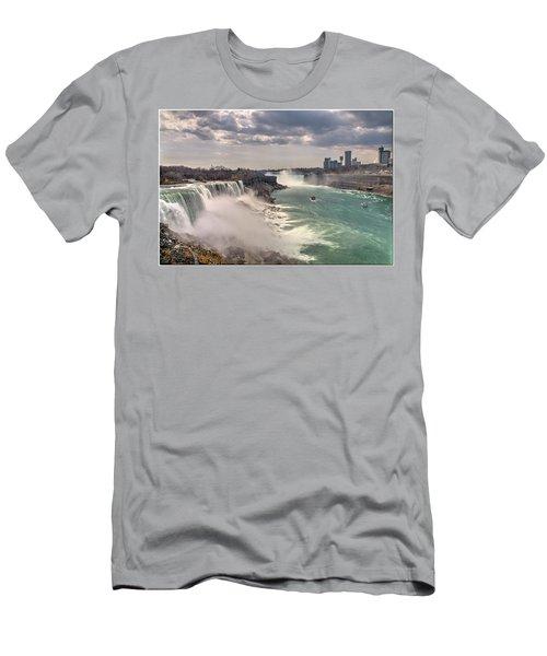 Niagra Waterfalls Men's T-Shirt (Athletic Fit)