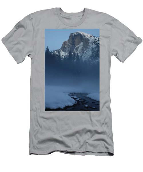 Men's T-Shirt (Slim Fit) featuring the photograph Night Falls Upon Half Dome At Yosemite National Park by Jetson Nguyen