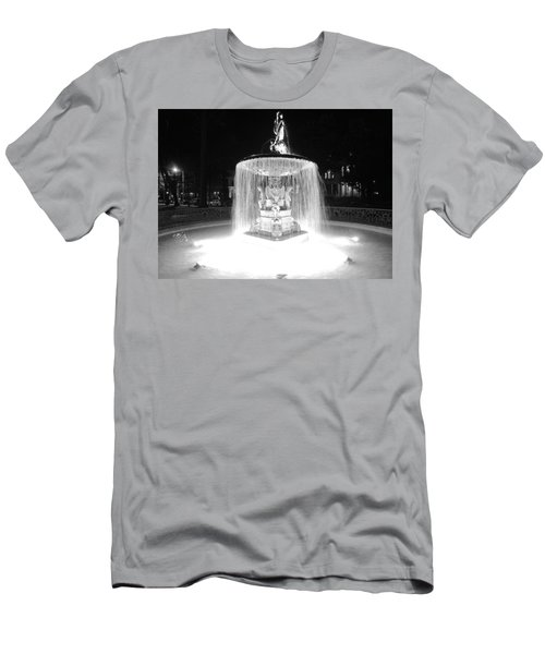 Night Fountain Men's T-Shirt (Athletic Fit)