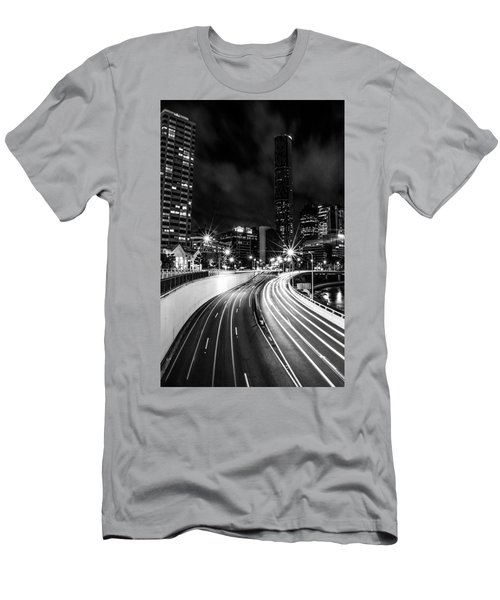Night Time In The City  Men's T-Shirt (Athletic Fit)