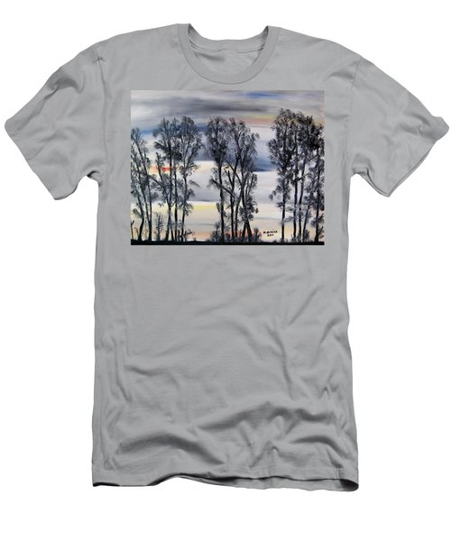 Men's T-Shirt (Slim Fit) featuring the painting Nightfall Approaching by Marilyn  McNish