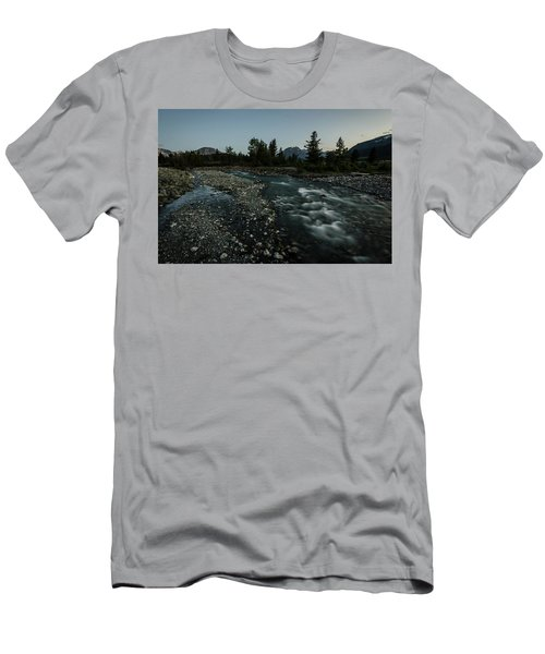 Men's T-Shirt (Athletic Fit) featuring the photograph Nightfall In Montana by Margaret Pitcher