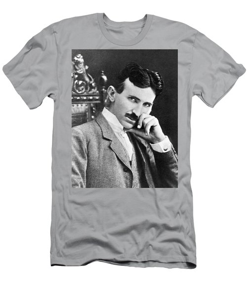 Nikola Tesla Men's T-Shirt (Athletic Fit)