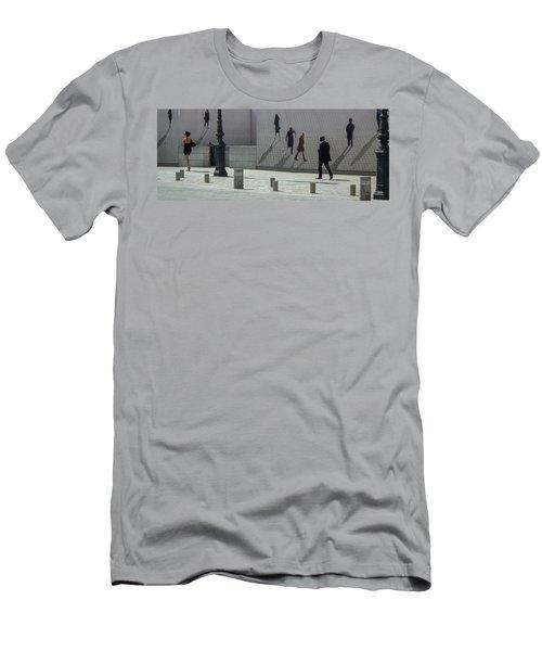 Nine Pedestrians At Place Vendome Men's T-Shirt (Athletic Fit)