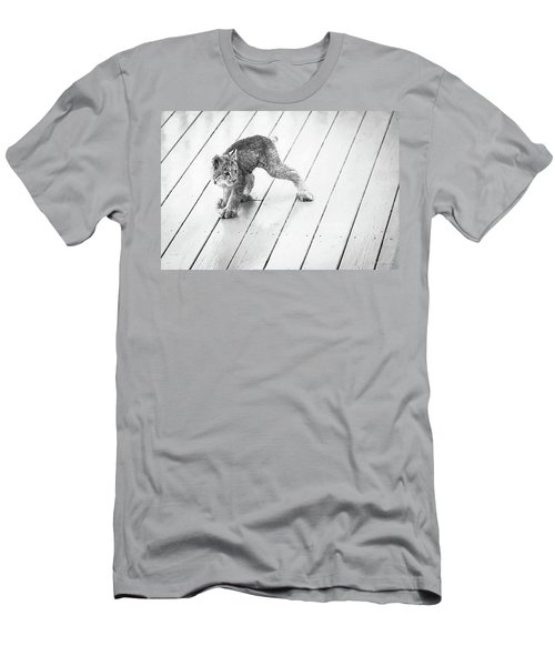Ninja Lynx Kitty Bw Men's T-Shirt (Athletic Fit)