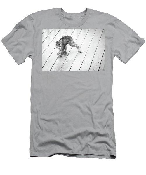 Ninja Lynx Kitty Bw Men's T-Shirt (Athletic Fit)