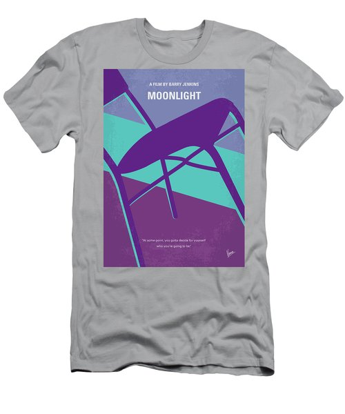 Men's T-Shirt (Slim Fit) featuring the digital art No757 My Moonlight Minimal Movie Poster by Chungkong Art