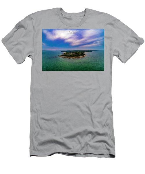 Nobska Lighthouse Panorama Men's T-Shirt (Athletic Fit)